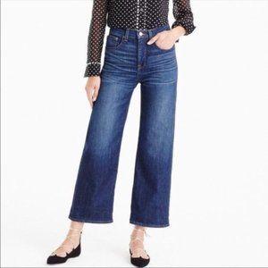 J. Crew   Rayner High Waist Wide Leg Cropped Jeans